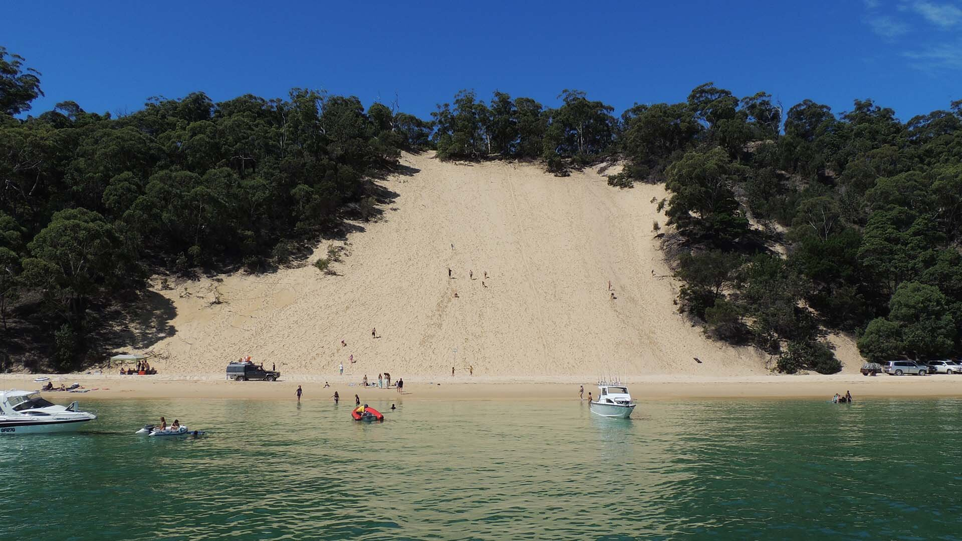 Cowan Cowan, Moreton Island, Moreton Island, © copyright 06-04-2015, Jody Kreuger, Jody Kreuger, Boating and Diving Officer, Griffith University