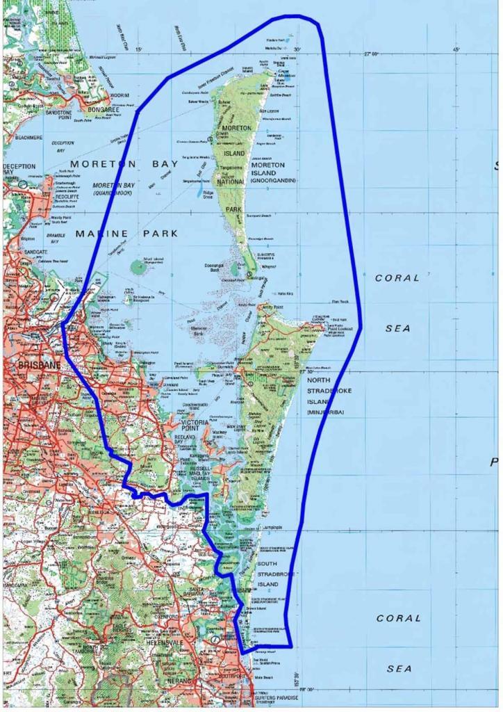 Map of Quandamooka Country