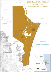 Map of Quandamooka People Native Title Determination areas