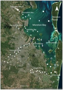 Moreton Bay water quality monitoring sites