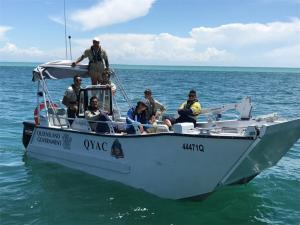 QYAC Sea rangers on QYAC vessel on Moreton Bay