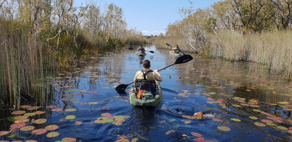 QYAC rangers kayaking to remote locations on North Stradbroke Island_Moreton Bay
