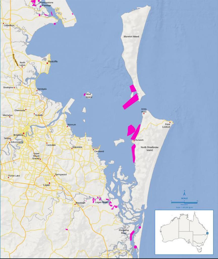 West1 Aquaculture areas in Moreton Bay