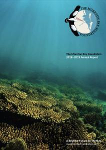 The Moreton Bay Foundation annual report 2018-2019